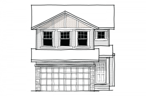 Essence - Craftsman B3 Elevation - 2,013 sqft, 3 Bedroom, 2.5 Bathroom - Cardel Homes Calgary
