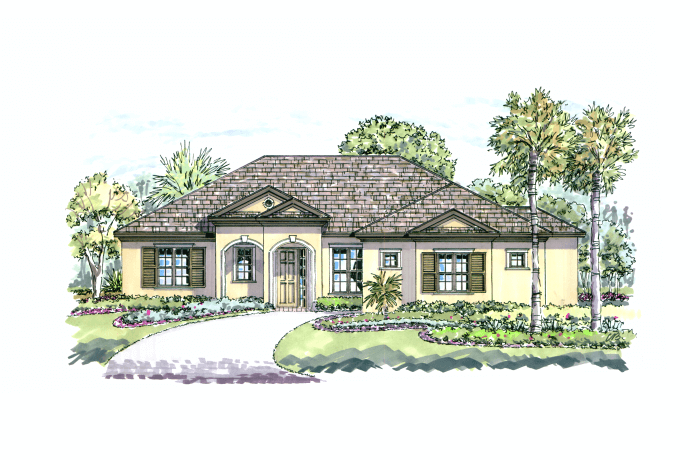 Azienda - Elevation A Elevation - 2,335 sqft, 3 Bedroom, 2.5 Bathroom - Cardel Homes Tampa