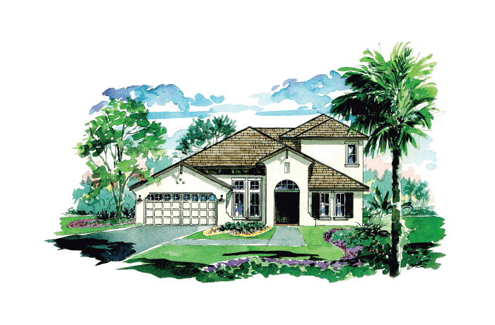 Cortina SE 3 - Elevation A with Option 8 Elevation - 3,325 - 3,363 sqft, 4 - 5 Bedroom, 3 - 4.5 Bathroom - Cardel Homes Tampa