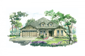 Cortina SE 3 - Elevation B Elevation - 3,325 - 3,363 sqft, 4 - 5 Bedroom, 3 - 4.5 Bathroom - Cardel Homes Tampa