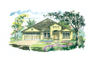Cortina SE 3 - Elevation C Elevation - 3,325 - 3,363 sqft, 4 - 5 Bedroom, 3 - 4.5 Bathroom - Cardel Homes Tampa