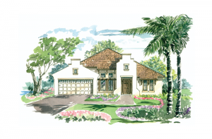 Cortina SE 3 - Elevation E Elevation - 3,325 - 3,363 sqft, 4 - 5 Bedroom, 3 - 4.5 Bathroom - Cardel Homes Tampa