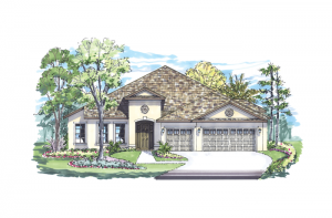 Dolcetto - Elevation A Elevation - 3,233 sqft, 4 Bedroom, 3 Bathroom - Cardel Homes Tampa