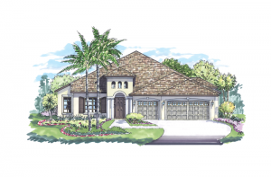 Dolcetto - Elevation B Elevation - 3,233 sqft, 4 Bedroom, 3 Bathroom - Cardel Homes Tampa