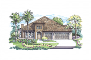 Dolcetto - Elevation C Elevation - 3,233 sqft, 4 Bedroom, 3 Bathroom - Cardel Homes Tampa