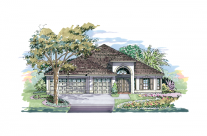 Kingfisher 1 - Elevation A Elevation - 2,357 sqft, 4 Bedroom, 2 Bathroom - Cardel Homes Tampa