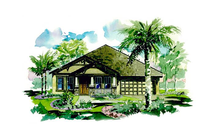 Avalon - Craftsman Elevation - 2,200 sqft, 3 Bedroom, 2.5 Bathroom - Cardel Homes Tampa