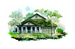 Avalon - Vernacular Elevation - 2,200 sqft, 3 Bedroom, 2.5 Bathroom - Cardel Homes Tampa