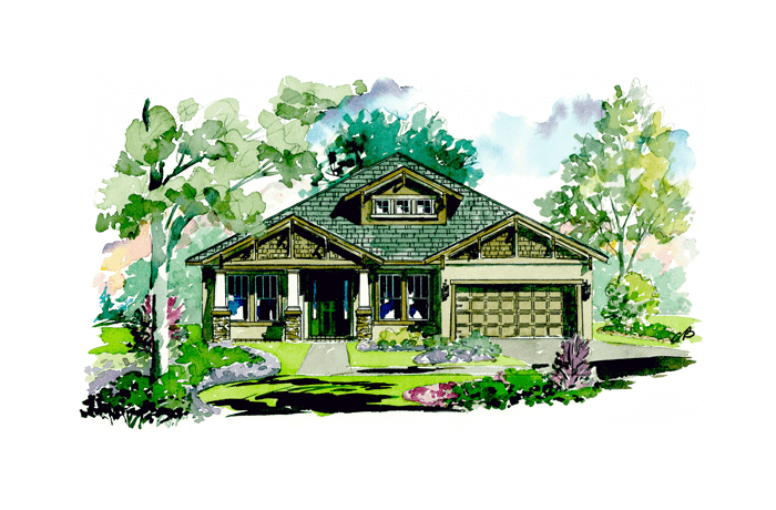 Contessa - Craftsman Elevation - 2,553 sqft, 3 Bedroom, 3 Bathroom - Cardel Homes Tampa