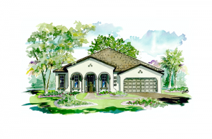 Contessa - Mediterranean Elevation - 2,553 sqft, 3 Bedroom, 3 Bathroom - Cardel Homes Tampa