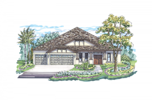 Meadowbrook - Elevation B Elevation - 3,136 sqft, 4 Bedroom, 3 Bathroom - Cardel Homes Tampa
