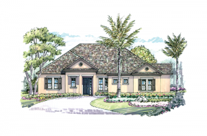 Azienda - Elevation C Elevation - 2,335 sqft, 3 Bedroom, 2.5 Bathroom - Cardel Homes Tampa