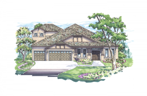 Meadowbrook - Elevation B with Option 1 Elevation - 3,136 sqft, 4 Bedroom, 3 Bathroom - Cardel Homes Tampa