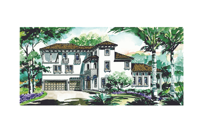 Hawthorne Tampa - Elevation Elevation - 2,915 sqft, 4 Bedroom, 3.5 Bathroom - Cardel Homes Tampa