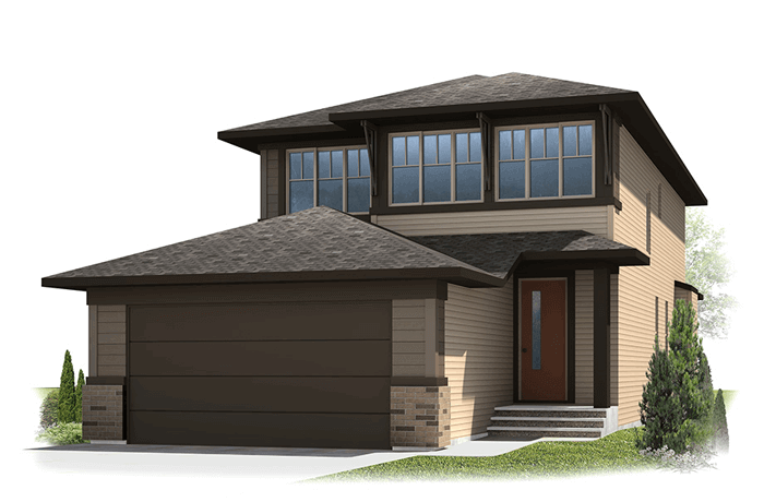 Tandem Bay - Fusion Prairie F1 Elevation - 2,143 sqft, 3 Bedroom, 2.5 Bathroom - Cardel Homes Calgary