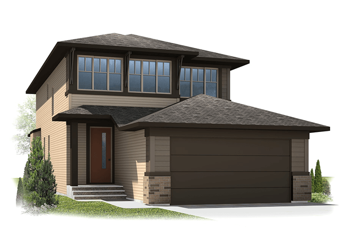 Tandem Bay - Fusion Prairie F1 Elevation - 2,143 sqft, 3 Bedroom, 2.5 Bathroom - Cardel Homes Calgary