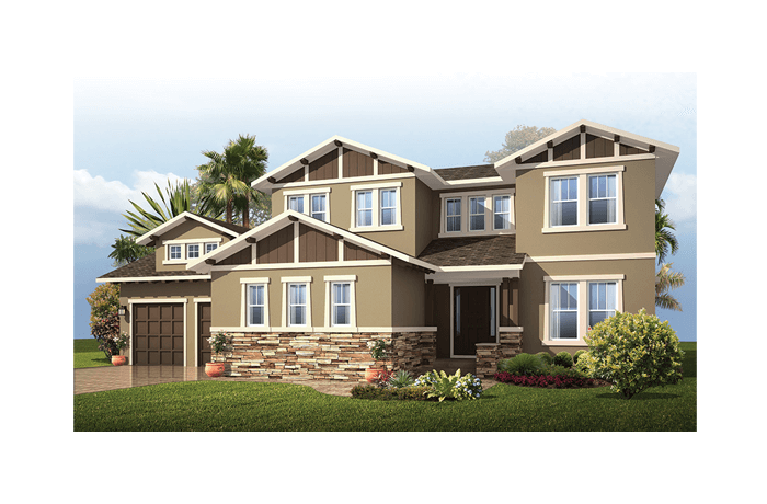 Wilshire 2 - Craftsman Elevation - 3,638 - 3,718 sqft, 5 Bedroom, 4 Bathroom - Cardel Homes Tampa