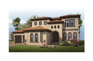 Wilshire 2 - Mizner Elevation - 3,638 - 3,718 sqft, 5 Bedroom, 4 Bathroom - Cardel Homes Tampa