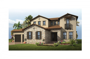 Wilshire 2 - Tuscan Elevation - 3,638 - 3,718 sqft, 5 Bedroom, 4 Bathroom - Cardel Homes Tampa