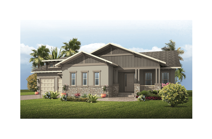 Wilshire - Craftsman Elevation - 2,989 - 3,069 sqft, 4 Bedroom, 3 Bathroom - Cardel Homes Tampa