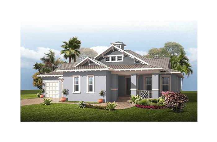 Wilshire MB - Coastal Elevation - 2,989 - 3,170 sqft, 4 Bedroom, 3 Bathroom - Cardel Homes Tampa