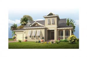 Wilshire MB - British West Indies Elevation - 2,989 - 3,170 sqft, 4 Bedroom, 3 Bathroom - Cardel Homes Tampa