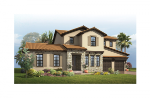 St. Regis - Tuscan Elevation - 3,484 - 3,833 sqft, 4 Bedroom, 2.5 Bathroom - Cardel Homes Tampa