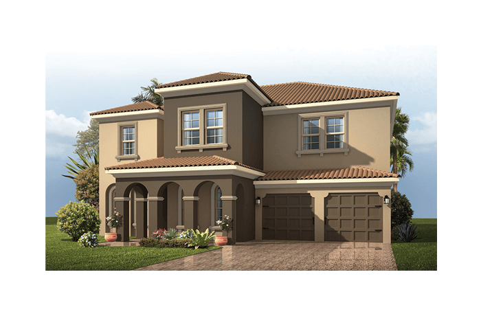 Nautilus Renderings - Mediterranean Elevation - 2,680 - 3,196 sqft, 3 - 5 Bedroom, 2.5 - 4.5 Bathroom - Cardel Homes Tampa