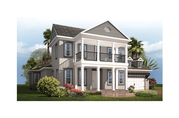 Waldorf - Classical Elevation - 3,661 - 3,672 sqft, 4 Bedroom, 3.5 Bathroom - Cardel Homes Tampa