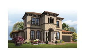 Waldorf - Italian Villa Elevation - 3,661 - 3,672 sqft, 4 Bedroom, 3.5 Bathroom - Cardel Homes Tampa
