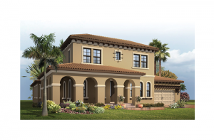 Waldorf - Mizner Elevation - 3,661 - 3,672 sqft, 4 Bedroom, 3.5 Bathroom - Cardel Homes Tampa