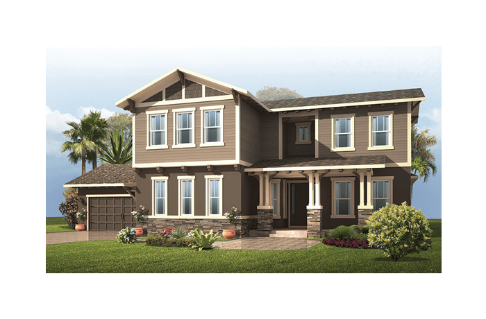 Carlton 2 - Craftsman Elevation - 3,515 - 3,780 sqft, 4 Bedroom, 3.5 Bathroom - Cardel Homes Tampa