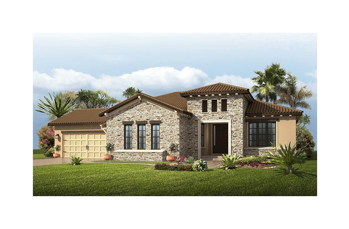 Carlton - Tuscan Elevation - 2,835 sqft, 3 Bedroom, 2.5 Bathroom - Cardel Homes Tampa