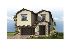 Azalea - Tuscan Elevation - 2,732 - 2,772 sqft, 4 - 5 Bedroom, 2.5 - 3 Bathroom - Cardel Homes Tampa