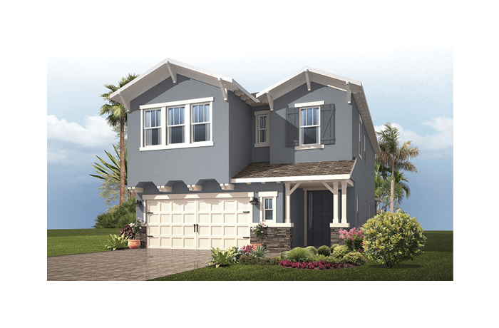 Azalea - Craftsman Elevation - 2,732 - 2,772 sqft, 4 - 5 Bedroom, 2.5 - 3 Bathroom - Cardel Homes Tampa