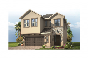 Azalea - French Country Elevation - 2,732 - 2,772 sqft, 4 - 5 Bedroom, 2.5 - 3 Bathroom - Cardel Homes Tampa