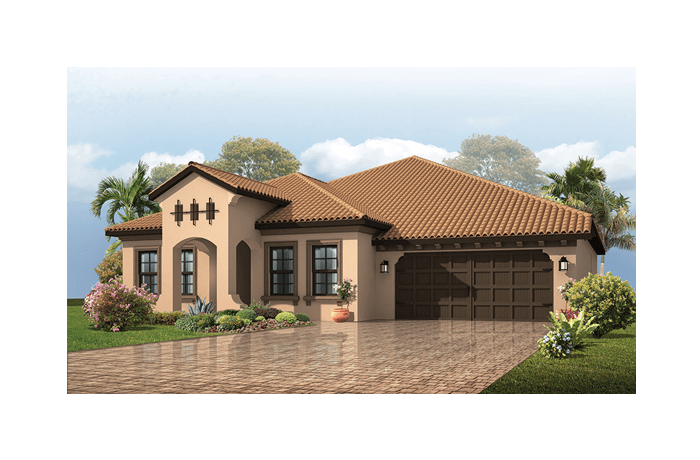 Avalon Renderings - Mizner Elevation - 2,256 - 2,272 sqft, 3 - 4 Bedroom, 2.5 - 3 Bathroom - Cardel Homes Tampa