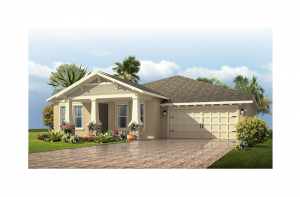 Avalon Renderings - Craftsman Elevation - 2,256 - 2,272 sqft, 3 - 4 Bedroom, 2.5 - 3 Bathroom - Cardel Homes Tampa