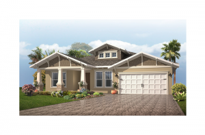 Contessa Renderings - Craftsman Elevation - 2,553 - 2,835 sqft, 3 - 5 Bedroom, 3 Bathroom - Cardel Homes Tampa