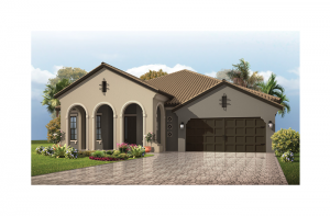 Contessa Renderings - Mizner Elevation - 2,553 - 2,835 sqft, 3 - 5 Bedroom, 3 Bathroom - Cardel Homes Tampa