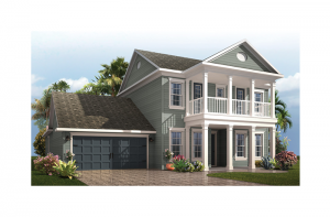 Endeavor 2 Renderings - Colonial Revival Elevation - 2,848 - 3,453 sqft, 3 - 5 Bedroom, 2.5 - 4 Bathroom - Cardel Homes Tampa