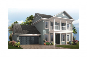 Endeavor 2 Renderings - Colonial Revival 2 Elevation - 2,848 - 3,453 sqft, 3 - 5 Bedroom, 2.5 - 4 Bathroom - Cardel Homes Tampa