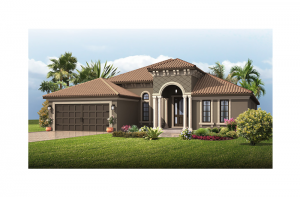 Cortina SE Renderings - Italian Villa Elevation - 2,646 - 2,684 sqft, 4 Bedroom, 2.5 - 3 Bathroom - Cardel Homes Tampa