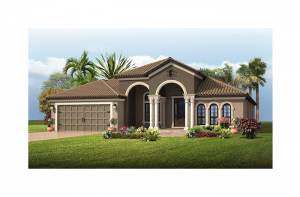 Cortina SE Renderings - Mizner Elevation - 2,646 - 2,684 sqft, 4 Bedroom, 2.5 - 3 Bathroom - Cardel Homes Tampa