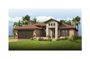 Cortina SE Renderings - Tuscan Elevation - 2,646 - 2,684 sqft, 4 Bedroom, 2.5 - 3 Bathroom - Cardel Homes Tampa