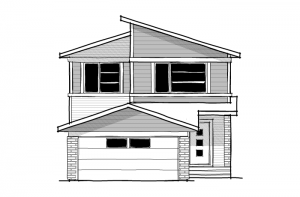 Tandem Bay - Eichler F2 Elevation - 2,143 sqft, 3 Bedroom, 2.5 Bathroom - Cardel Homes Calgary