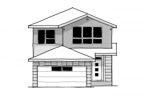Tandem Bay - Fusion Modern F3 Elevation - 2,143 sqft, 3 Bedroom, 2.5 Bathroom - Cardel Homes Calgary