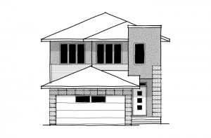 Tandem Bay - Fusion Modern F4 Elevation - 2,143 sqft, 3 Bedroom, 2.5 Bathroom - Cardel Homes Calgary