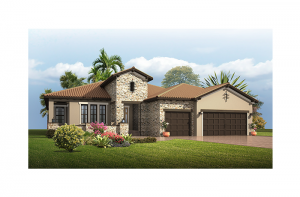 Dolcetto Renderings - Tuscan Elevation - 3,233 sqft, 4 Bedroom, 3 Bathroom - Cardel Homes Tampa