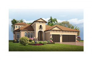 Dolcetto 2 - Italian Villa Elevation - 3,792 sqft, 4 Bedroom, 3.5 Bathroom - Cardel Homes Tampa